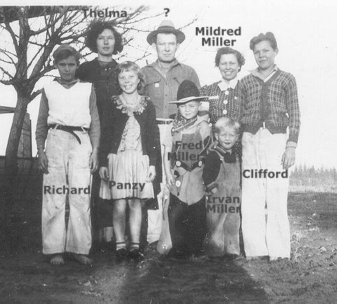 Richard Young, Thelma Begnal, Patricia Arnold, Unk, Fred, Irvan & Mildred Miller, Clifford Young